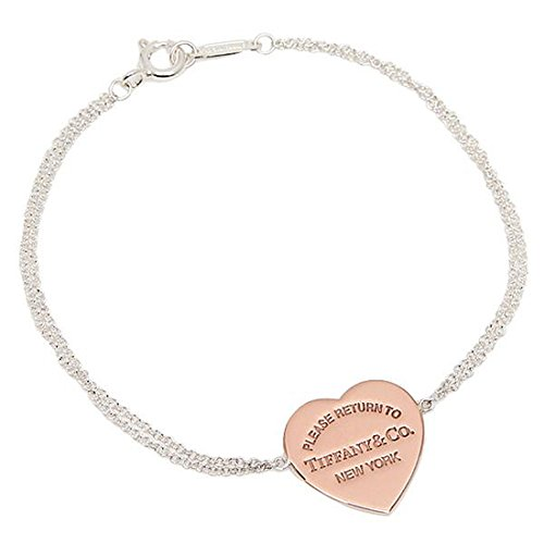 Tiffany bracelets TIFFANY &Co. 29633789 RTT return to heart medium 6.5 in RUBEDO silver rose - To Return Gold Tiffany