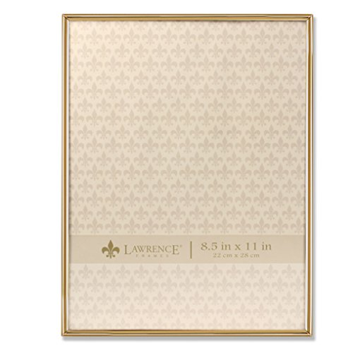 Lawrence Frames 8.5x11 Simply Gold Metal Picture Frame