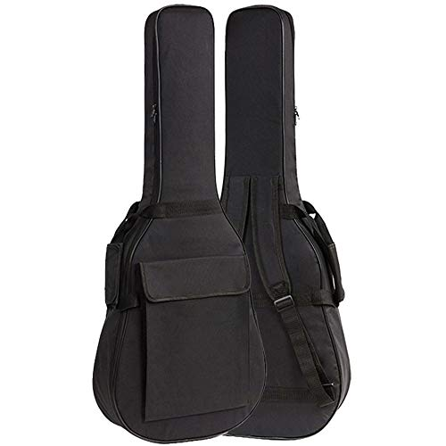 GLEAM Guitar Gig Bag - 0.4 Inch Sponge Padding Fit 40 and 41 inch Acoustic with Large Bag - Waterproof