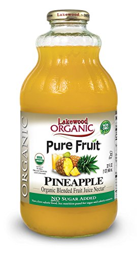 Lakewood Organic Pure Fruit Pineapple Nectar Blend, 32 Ounce (Pack of 6)