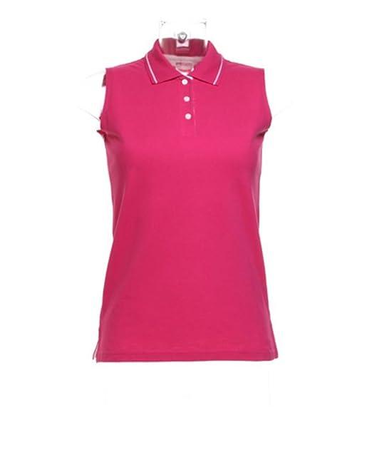 7ebf064aaeb8d Kustom Kit Womens Ladies Plain Sleeveless Tennis Polo Shirt  Amazon.co.uk   Clothing