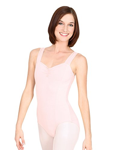 Adult Pinch Front Tank Cotton Dance Leotard N5501LBLM Light Blue Medium