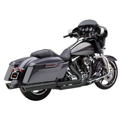 17-19 HARLEY FLHX2: Cobra 909-Twins Slip-On Exhaust (Raven - Exhaust Cobra Black