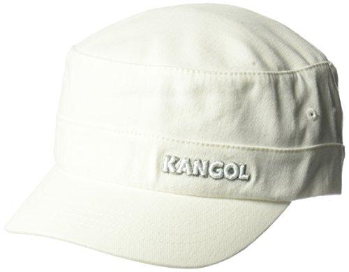 Kangol Unisex-Adult's Cotton Twill Army Cap, White, - Hats Accessories Kangol Unisex