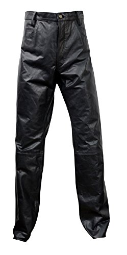 Men's Leather Jeans Style 5 Pockets Model Pant Lll-jp01 (30 Inch - Models Measurements Male