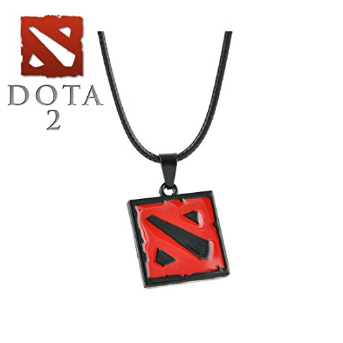 Dota 2 Necklace Pendant PC Video Games Logo Cosplay by Athena Brands
