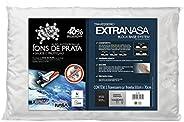Travesseiro Nasa Alto Extravisco Íons de prata - P/ fronhas 50x70 cm - Fibrasca, Branco