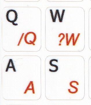 MAC Portuguese Brazilian Non Transparent White Keyboard Sticker for Laptop
