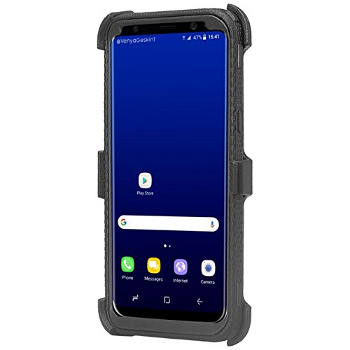 Galaxy S9 Plus Case, Samsung S9 Plus [Shock Proof] Heavy Duty Belt Clip Holster [with Full Screen Temper Glass] Full Body Coverage Rugged Protection for Galaxy S9 Plus –