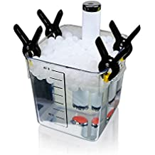 SM@RTY 300 Sous Vide Cooking Water Balls with 4 clips and Dry Bag - for Anova, ChefSteps Joule, Immersion Circulator Precision Cookers, Creates Lid for any Sous Vide Container (300 Balls, 4 Clips)