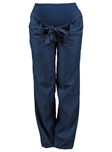 Pantalón tejano fino con camal ancho, talla XS, color azul oscuro, para mujer embarazada