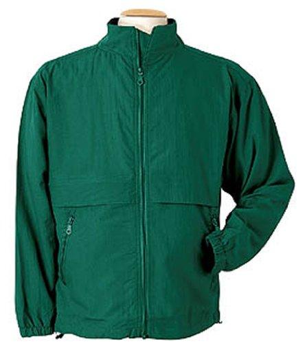 Crinkle Camp Shirt (Monterey Club Men's Crinkle Taslon Jacket #7137 (Evergreen,X-Large))