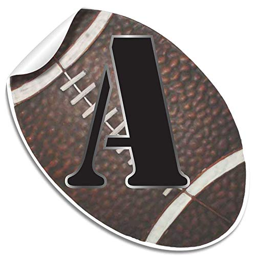 "Wall Letters ""A"" Football Letter Stickers Alphabet Initial Vinyl Sticker Kids Decals Children Room Decor Baby Nursery Boys Bedroom Decorations Child Names Personalized Decal Graphic Sports Balls Girls"