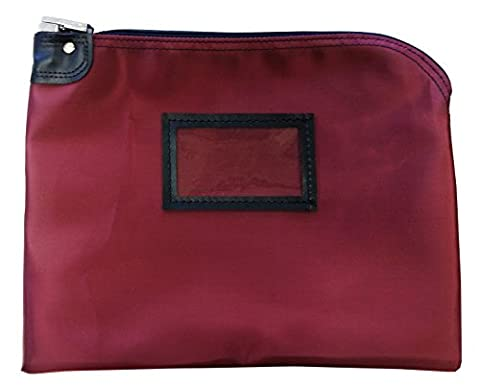 Locking Document Security HIPAA Bag 11 x 15 (Burgundy) - Locking Security Bags