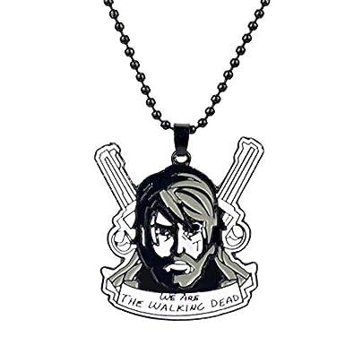 VAWAA The Walking Dead Movie Llavero Collar Rick Grimes Cara ...