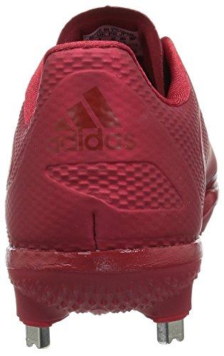 Adidas Heren Buitenissig X Carbon Mid Baseball Schoen Macht Rood / Universiteit Rood / Wit