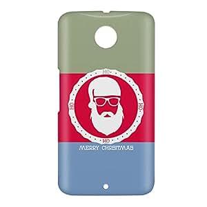 Loud Universe Nexus 6 Christmas Color Santa Badge Print 3D Wrap Around Case - Multi Color