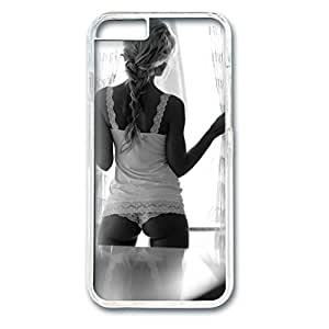 iCustomonline A Sexy Girl Snap on Case for iPhone iPhone 6 (4.7 inch) PC Transparent Hard Back Cover