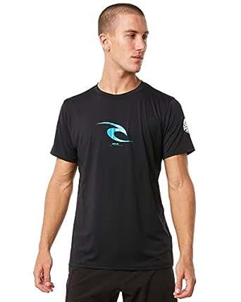 Rip Curl Surf Men's Icon Ss Tee Rash Vest Nylon Elastane Black