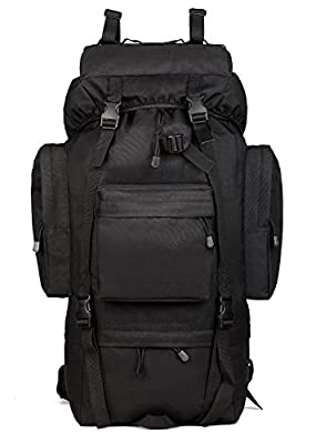 ArcEnCiel 65L Waterproof Tactical Giant Hiking Camping Backpack with Rain Cover