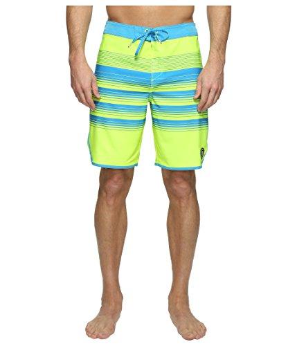 O'NEILL Men's 19 Inch Outseam Hyperfreak Stretch Swim Boardshort, Neon Yellow/Generator, 36