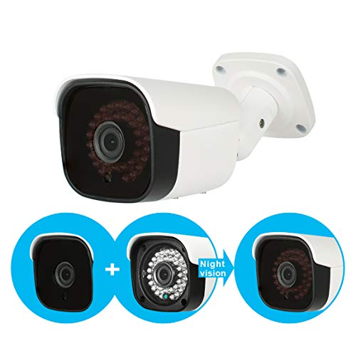 Evtevision 5MP AHD Bullet Camera 4MP TVI/CVI Security Camera IP66 Weatherproof Outdoor/Indoor IR Nightvision Wide View Angle-Fit for 5MP AHD DVR 4MP TVI/CVI DVR and 960H DVR