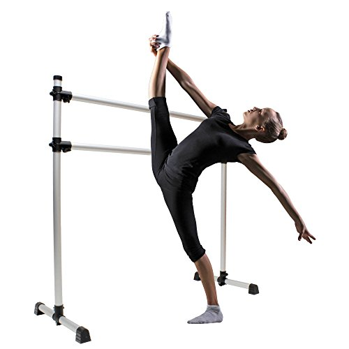 e Portable for Home and Studio – Double Ballet Barre Freestanding Stretching Bar, Dance Equipment ()