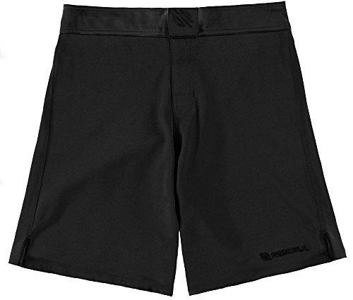 Sanabul Essential MMA BJJ Cross Training Workout Shorts (32 inch W, Black)