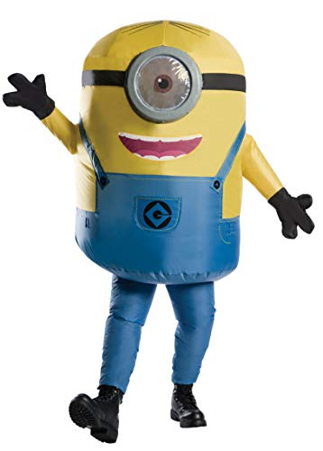 Halloween Cartoon Characters (Rubie's Men's Minions Inflatable Minion Stuart Costume, Yellow,)