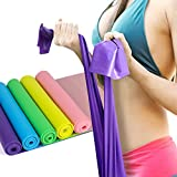 BST POWER 5 FT Resistance Bands Set,Professional Latex Elastic Exercise Bands All Workout-Set of 5 For Sale