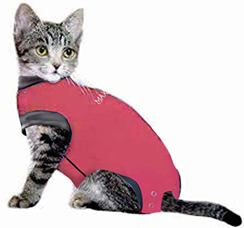 MAXX Medical Pet Clothing & Recovery Cat & Dog Shirt E Collar Alternative for Post Surgery, Wounds and Bandages - (S, Pink) from MAXX
