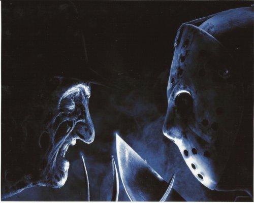 Jason Vs. Freddy 8 x 10 Poster Photo Jason & Freddy facing each other from Jason Vs. freddy
