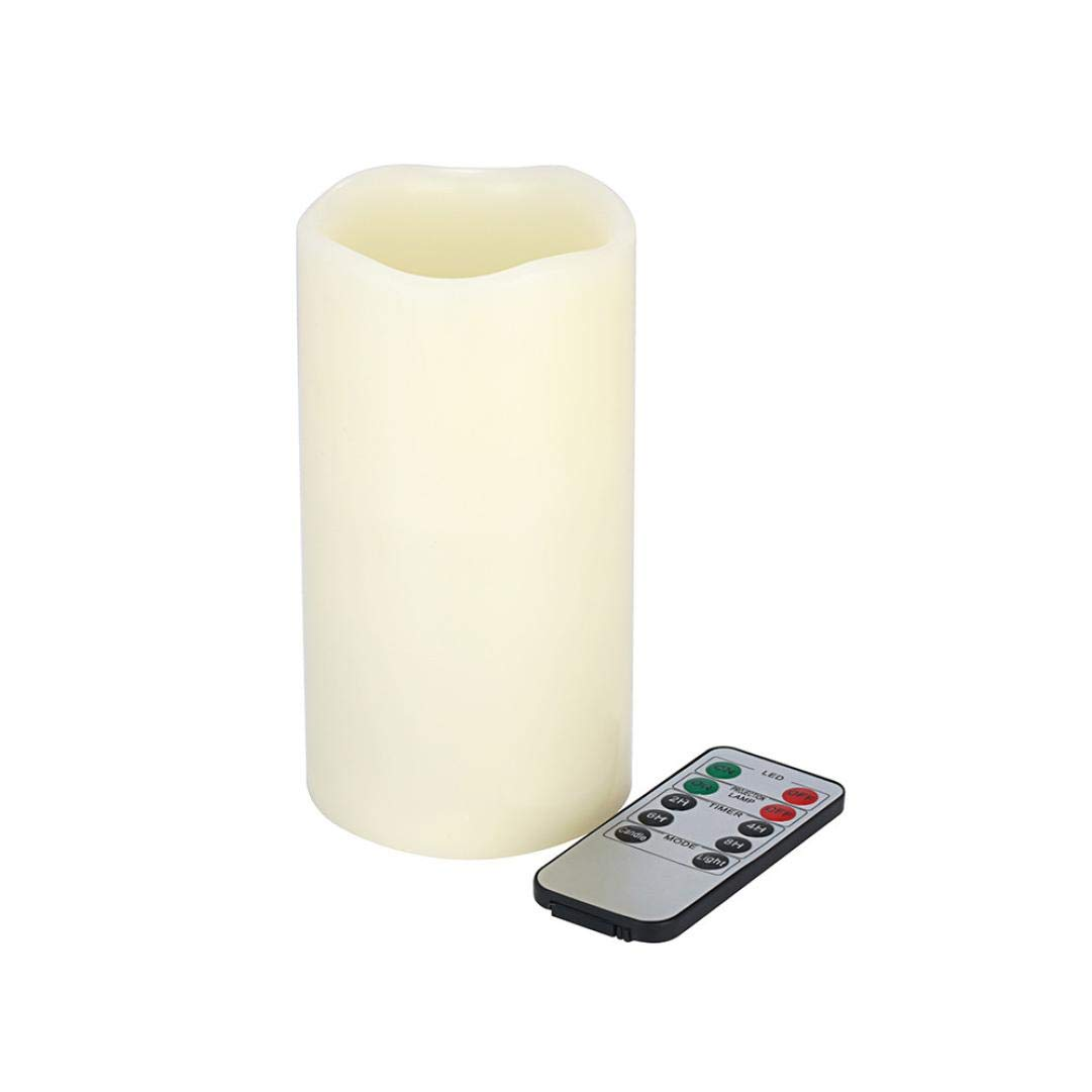 Hot Sale!UMFun LED Candle Light Flameless Projection Flickering Remote Control Christmas Decor (C)