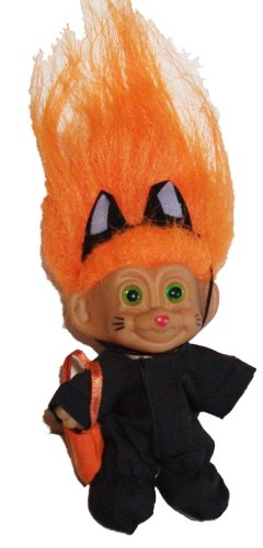 Troll Doll Halloween in Black Cat Costume 3