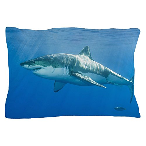 CafePress Great White Shark Standard Size Pillow Case, 20