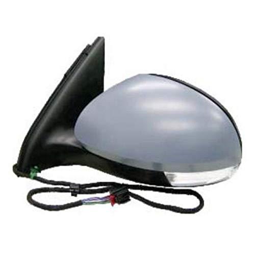7445610290299 Derb Specchio Specchietto Retrovisore Sx Sinistro - Calotta Da Verniciare Elettrico - Termico - Con Fanale Lato Guida