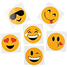 "Rhode Island Novelty RINCO Emoji Temporary Tattoos (144 Piece), 2"" (Discontinued by manufacturer)"
