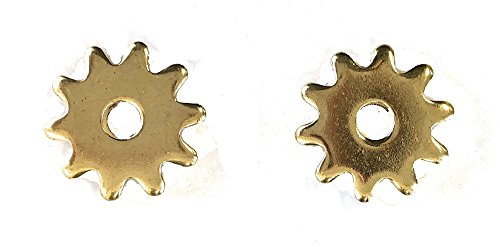 Western Spur Brass Rowels 7/8 Inch Sold In Pair 10 (Point Spur Rowels)