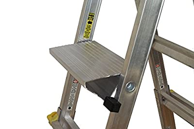 Work Platform ladder accessory, supports 170kg (375 pounds), saves money and time, reduces fatigue, compact, safe and adjustable to simplify work (Made in Canada)