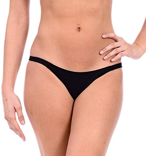 Sexy Mini Brazilian Bikini Thong Swimsuit Bottom by Gary Majdell (Black, Small)