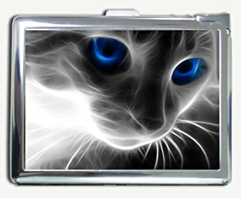Smoke Cat Cigarette Case with Built-in Lighter
