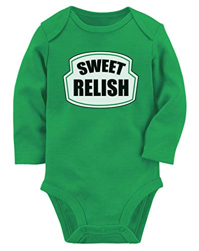 Tstars Sweet Relish Green Pickled Cute Easy Halloween Costume Baby Long Sleeve Bodysuit 12M (6-12M) Green]()