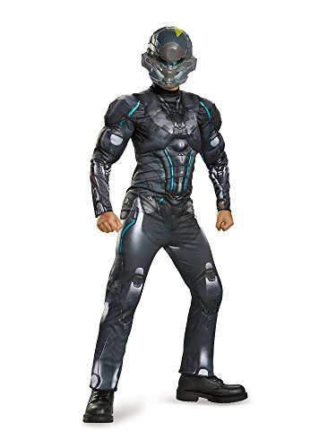 Disguise Spartan Locke Classic Muscle Halo Microsoft Costume, Medium/7-8 (Halo Costume Child)