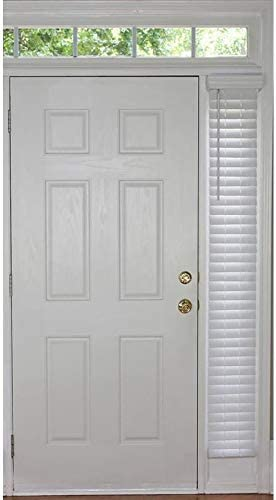 allen roth Trim at Home 2-in Cordless White Faux Wood Room Darkening Plantation Blinds Common: 9-in Actual: 8.5-in x 72-in