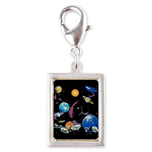 Silver Portrait Charm Solar System And Asteroids