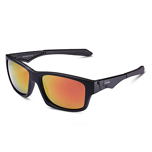 Carfia Sports Sunglasses UV400 Polarized Sunglasses for Mens Womens Driving Running Fishing Golf, TR90 Unbreakable - Should Have Polarization Sunglasses