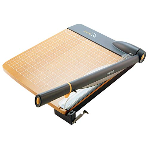 (Westcott ACM15108 TrimAir Titanium Wood Guillotine Paper Trimmer with Anti-Microbial Protection, 18