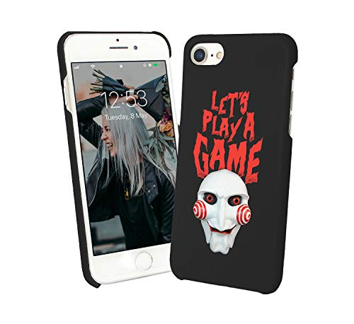 Halloween Pattern Let's Play A Scary Game Mask Clown_001317 Protective Case Cover Hard Plastic for Samsung Galaxy Note 9 N9 (2018) Funny Gift Christmas for Him for Her