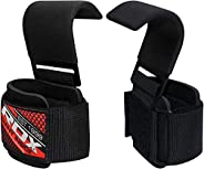RDX Weight Lifting Hook Straps Neoprene Padded Wrist Grips for Powerlifting, Weightlifting, Bodybuilding, Stre