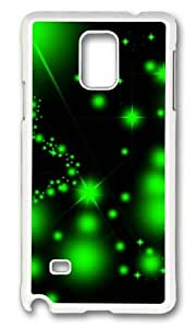 MOKSHOP Adorable Green starry Hard Case Protective Shell Cell Phone Cover For Samsung Galaxy Note 4 - PC White